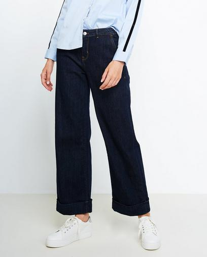 Nachtblauwe flared jeans